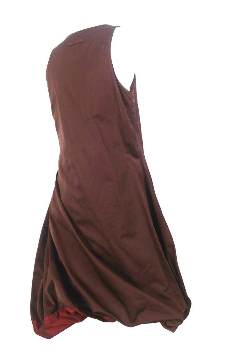 Jean Paul Gaultier Classique Label Bronze Satin Balloon Dress Spring/Summer 2003 For Sale 13