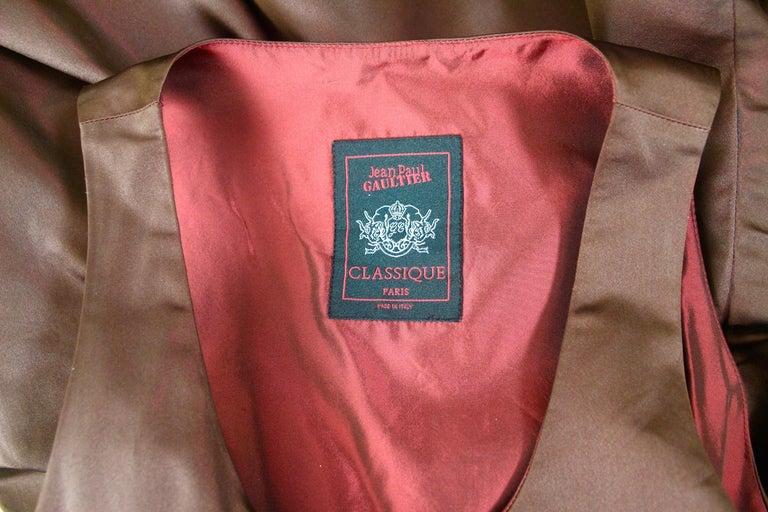 Jean Paul Gaultier Classique Label Bronze Satin Balloon Dress Spring/Summer 2003 For Sale 15