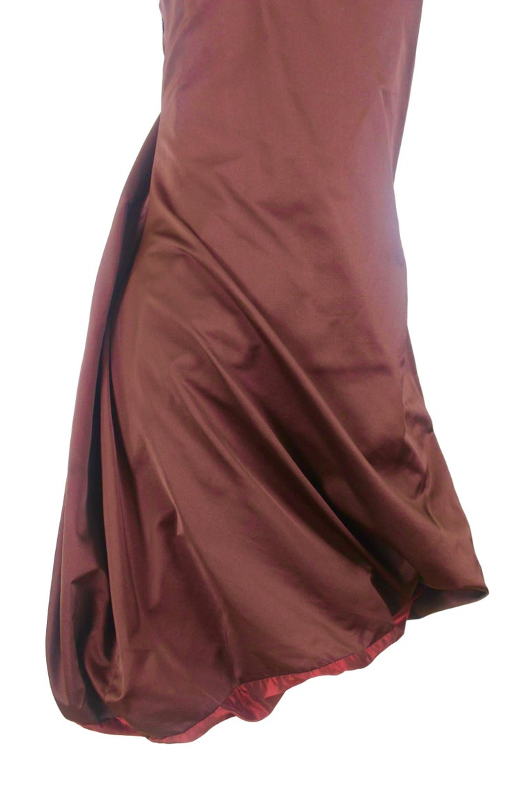 Jean Paul Gaultier Classique Label Bronze Satin Balloon Dress Spring/Summer 2003 In Excellent Condition For Sale In Bath, GB