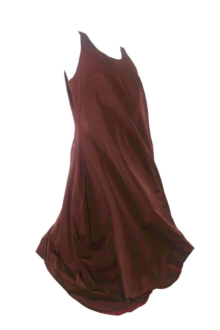 Women's Jean Paul Gaultier Classique Label Bronze Satin Balloon Dress Spring/Summer 2003 For Sale