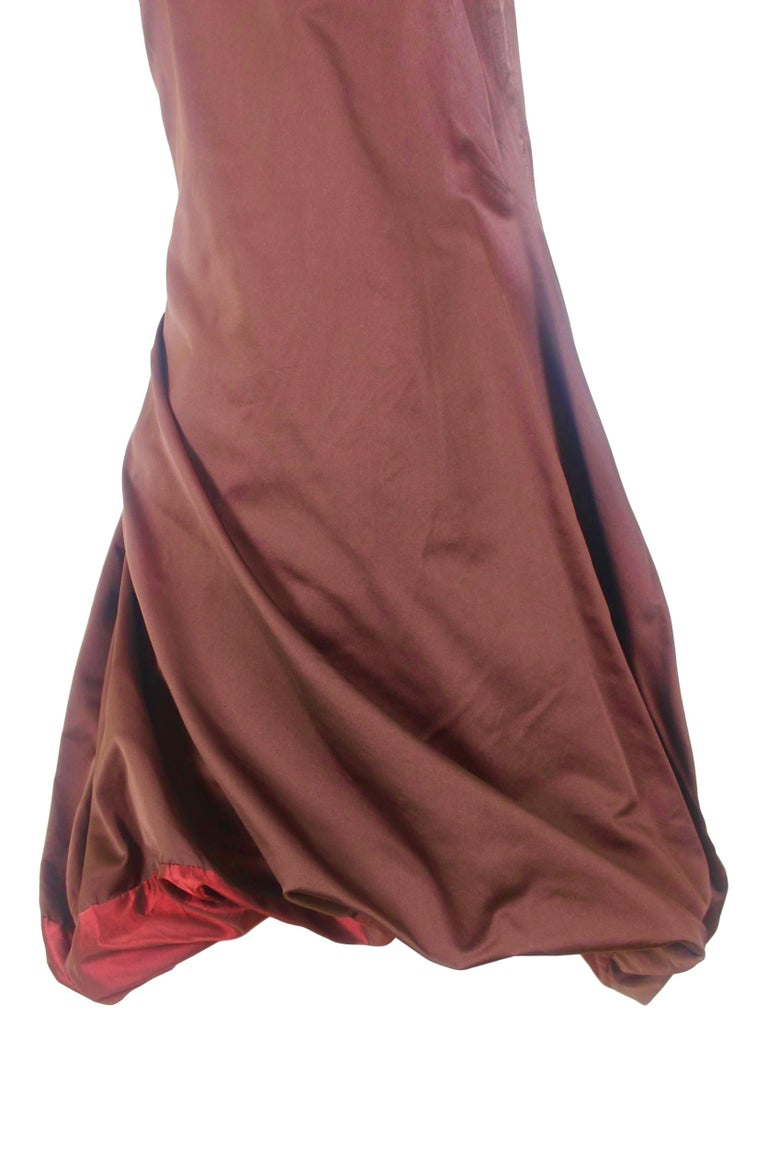 Jean Paul Gaultier Classique Label Bronze Satin Balloon Dress Spring/Summer 2003 For Sale 1