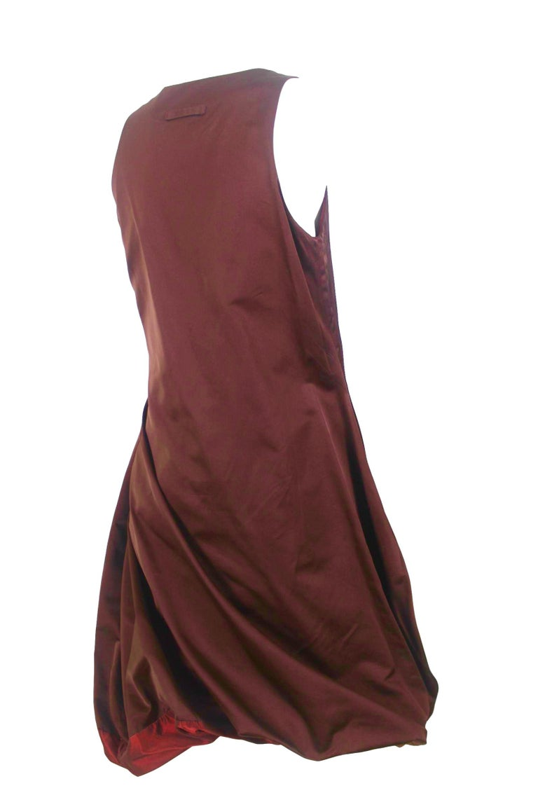 Jean Paul Gaultier Classique Label Bronze Satin Balloon Dress Spring/Summer 2003 For Sale 2