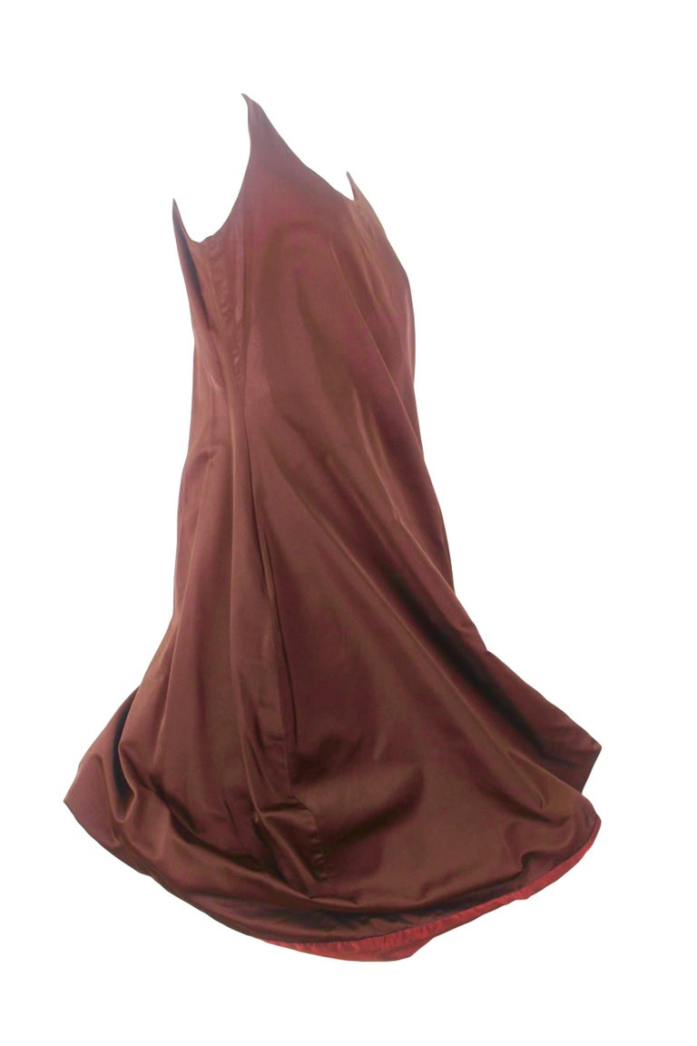 Jean Paul Gaultier Classique Label Bronze Satin Balloon Dress Spring/Summer 2003 For Sale 3
