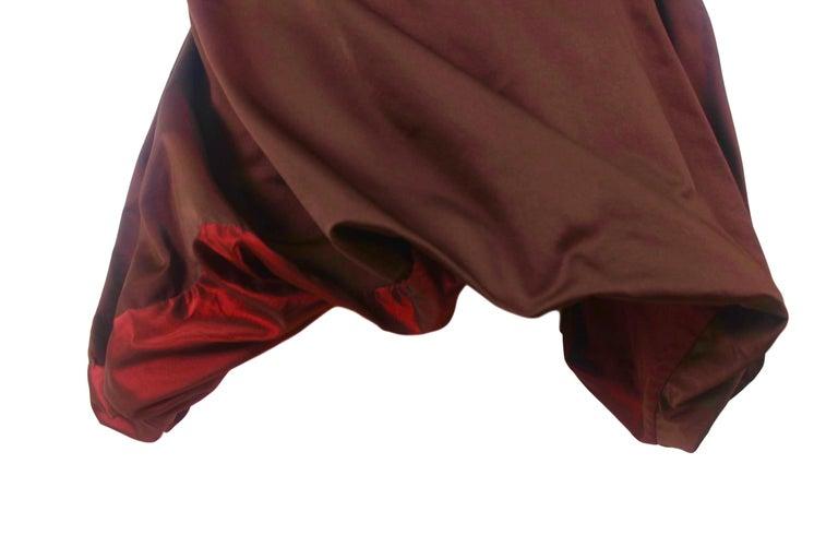 Jean Paul Gaultier Classique Label Bronze Satin Balloon Dress Spring/Summer 2003 For Sale 4