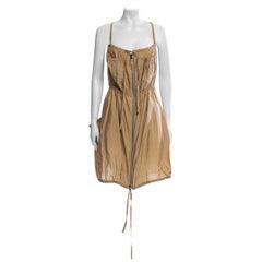 Jean Paul Gaultier Classique Silk Dress, zippers and drawstrings