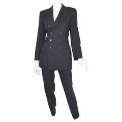 Jean Paul Gaultier Classique Vintage Navy Wool Pant with Jacket Suit