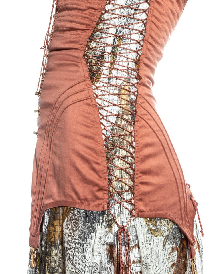 Jean Paul Gaultier cotton muslin corseted 'Joan of Arc' dress, ss 1994 For Sale 5
