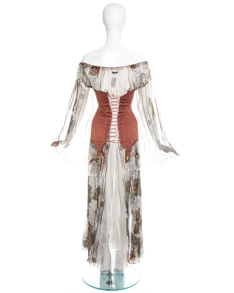 Jean Paul Gaultier cotton muslin corseted 'Joan of Arc' dress, ss 1994 For Sale 6