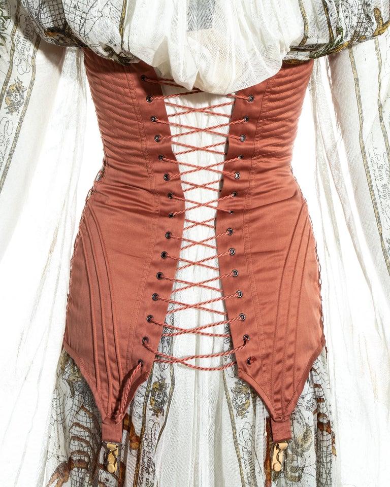 Jean Paul Gaultier cotton muslin corseted 'Joan of Arc' dress, ss 1994 For Sale 7