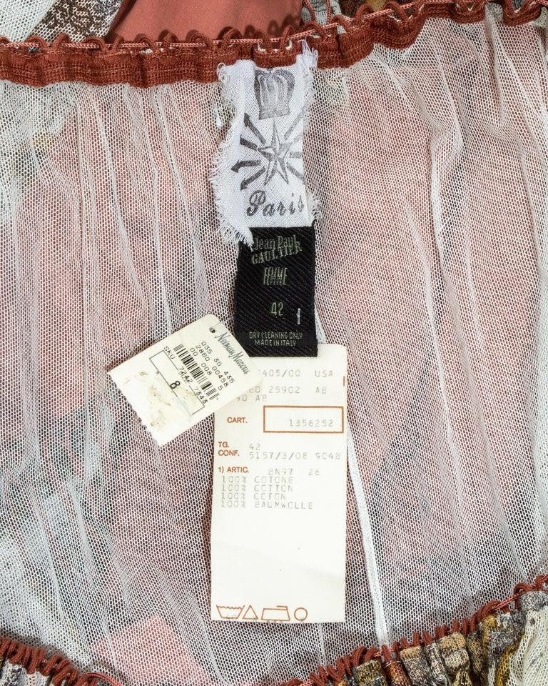 Jean Paul Gaultier cotton muslin corseted 'Joan of Arc' dress, ss 1994 For Sale 8