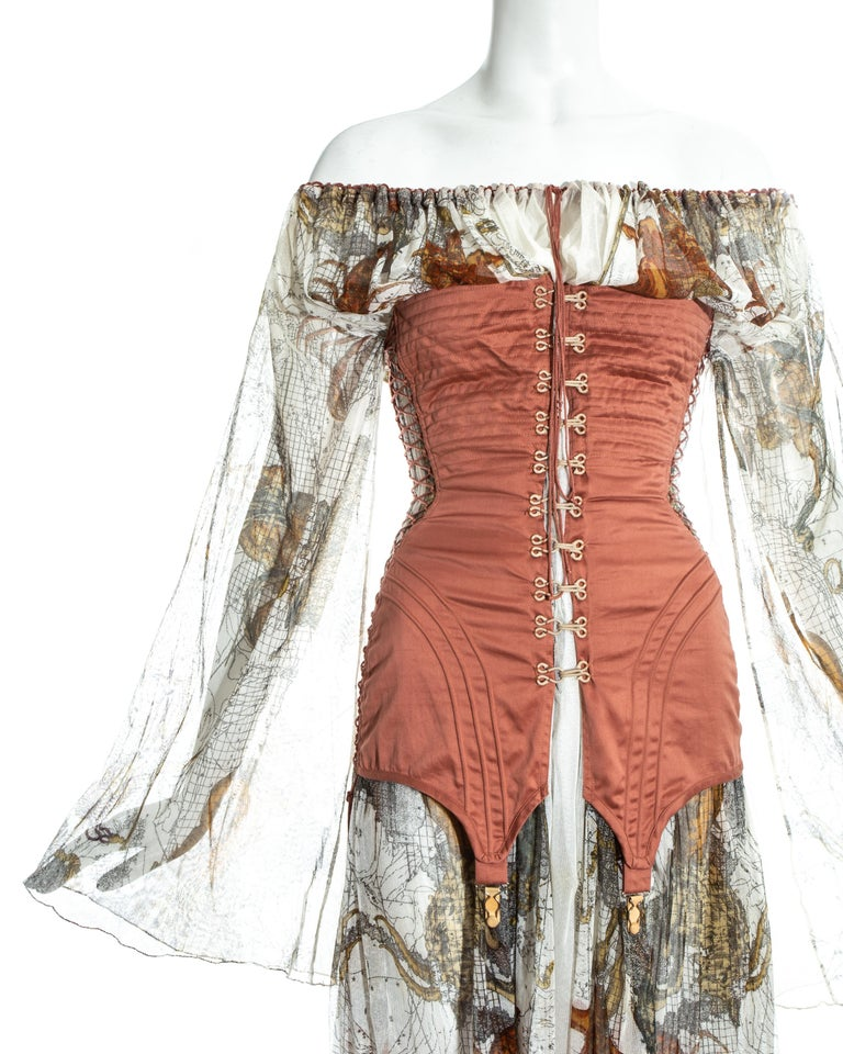 Jean Paul Gaultier cotton muslin corseted 'Joan of Arc' dress, ss 1994 In Excellent Condition For Sale In London, GB