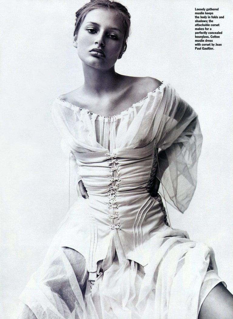 Women's Jean Paul Gaultier cotton muslin corseted 'Joan of Arc' dress, ss 1994 For Sale