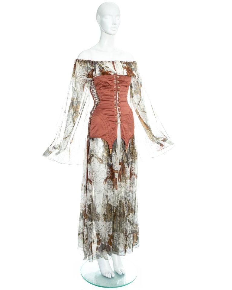 Jean Paul Gaultier cotton muslin corseted 'Joan of Arc' dress, ss 1994 For Sale 1