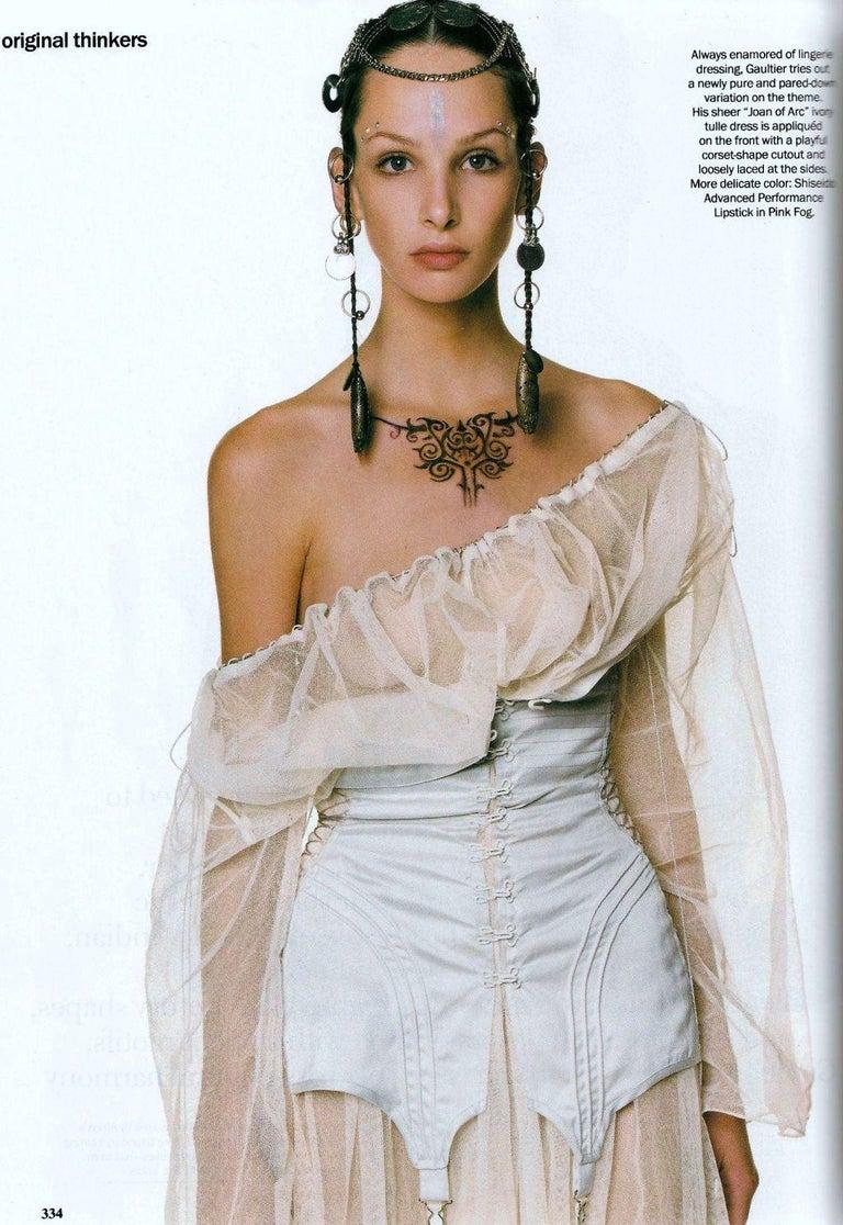 Jean Paul Gaultier cotton muslin corseted 'Joan of Arc' dress, ss 1994 For Sale 2