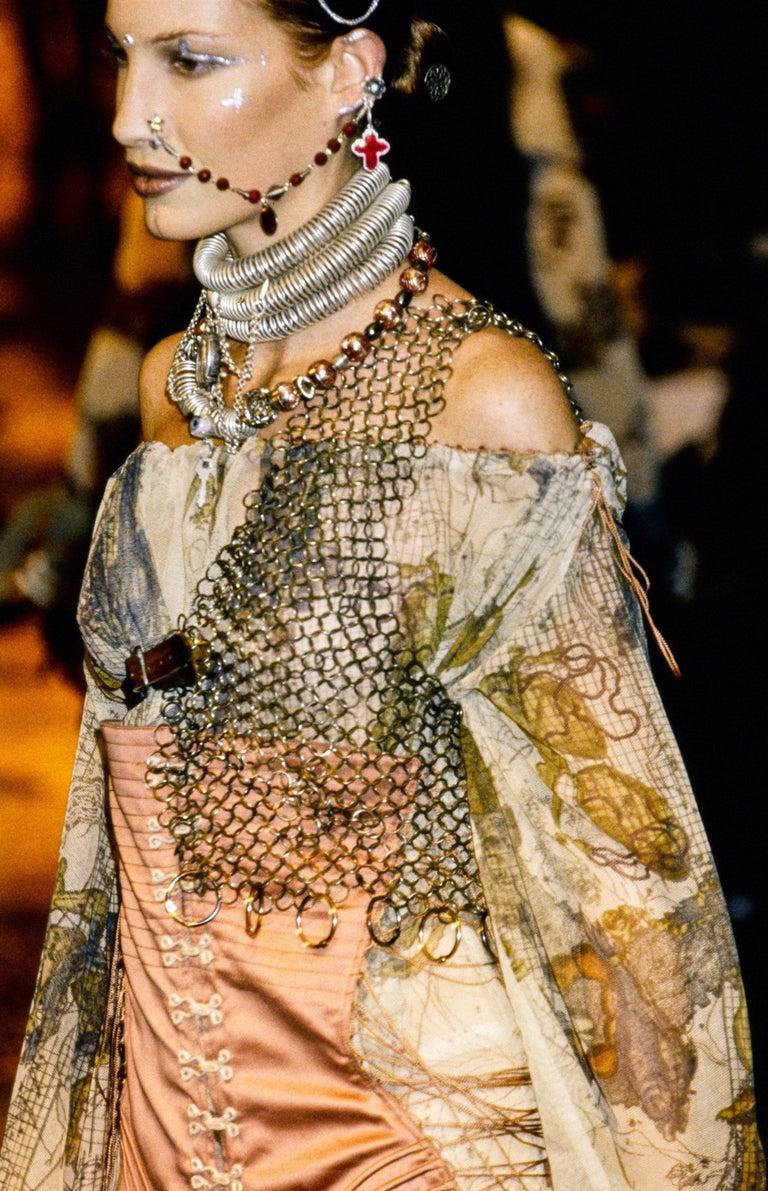 Jean Paul Gaultier cotton muslin corseted 'Joan of Arc' dress, ss 1994 For Sale 3