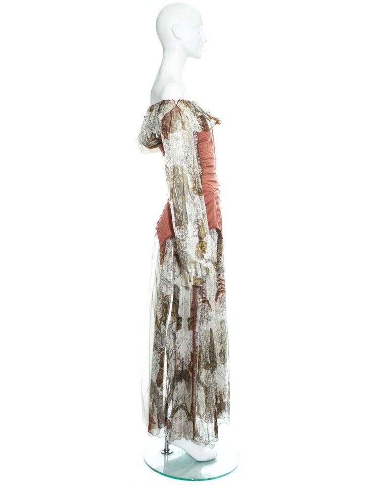 Jean Paul Gaultier cotton muslin corseted 'Joan of Arc' dress, ss 1994 For Sale 4