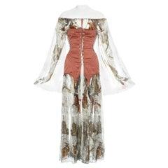 Jean Paul Gaultier cotton muslin corseted 'Joan of Arc' dress, ss 1994