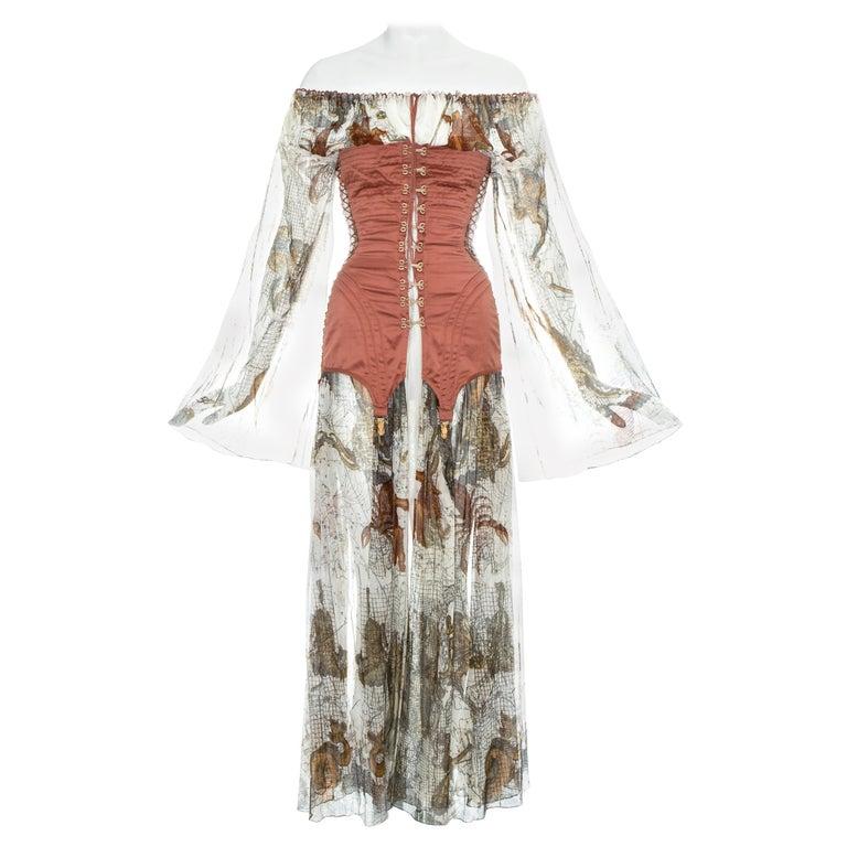 Jean Paul Gaultier cotton muslin corseted 'Joan of Arc' dress, ss 1994 For Sale