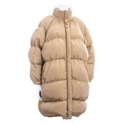 Jean Paul Gaultier cream oversized puffer coat, fw 1999