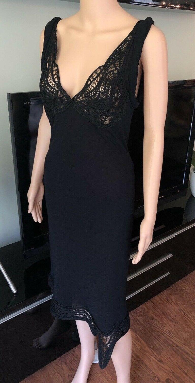 Women's Jean Paul Gaultier Crochet Bustier Black Dress  For Sale