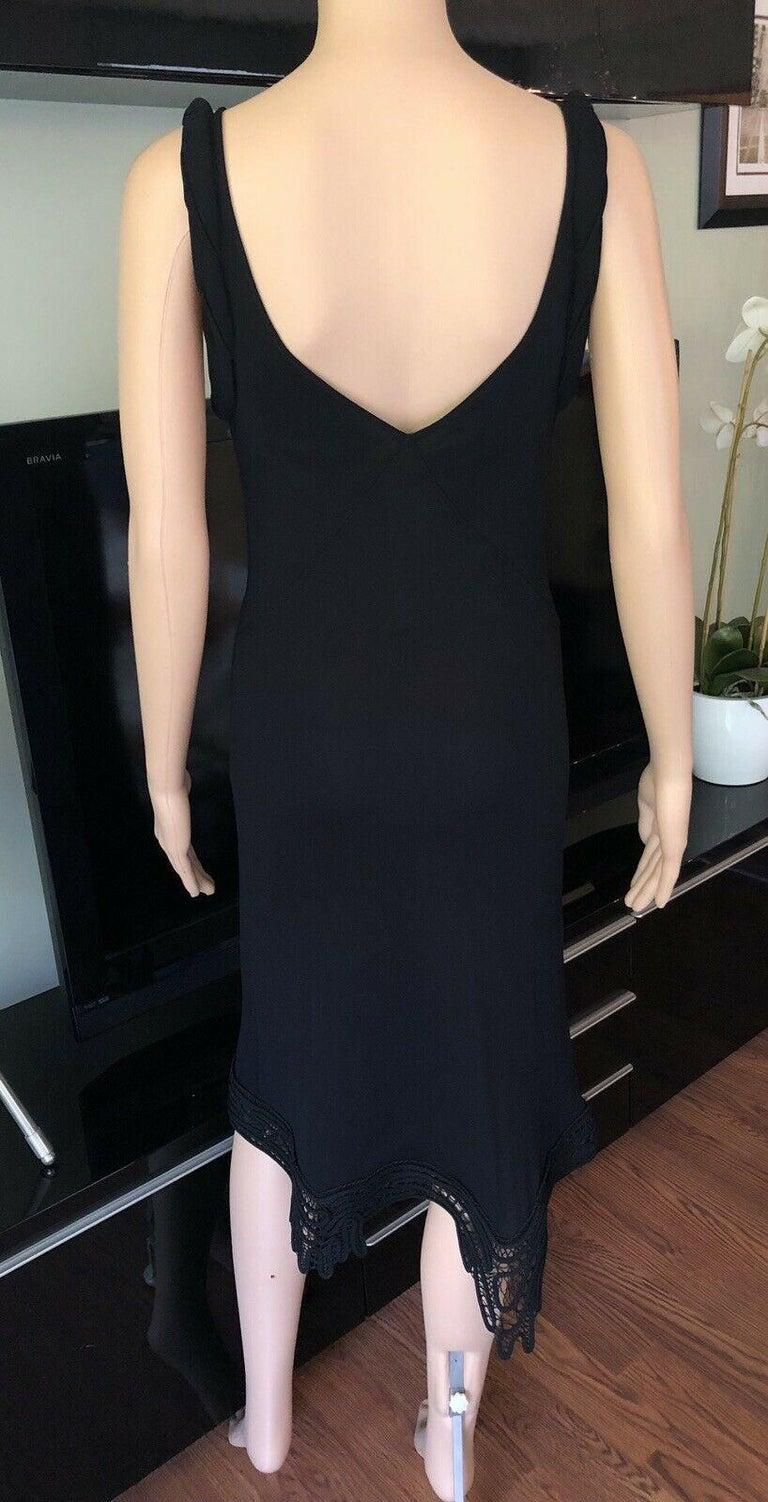 Jean Paul Gaultier Crochet Bustier Black Dress  For Sale 1