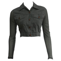Jean Paul Gaultier Cropped Jacket With Fishnet Sleeves