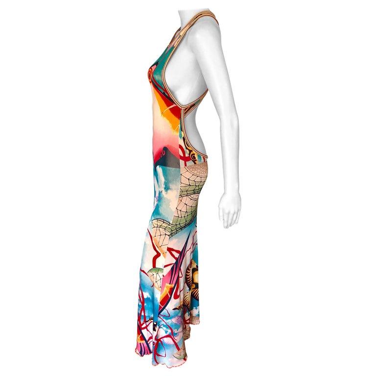 Jean Paul Gaultier Cutout Open Back Maxi Dress