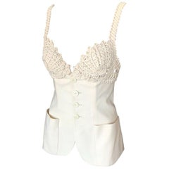 Jean Paul Gaultier Embroidered Cups Top