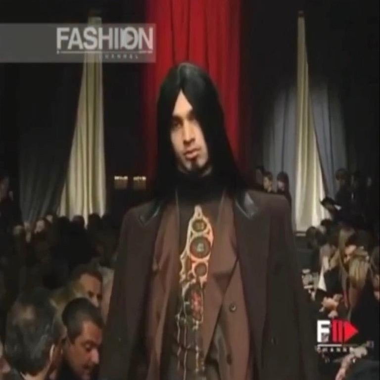 Jean Paul Gaultier F/W 1998 Runway Gothic Cross Mesh Top In Good Condition For Sale In Rome, IT