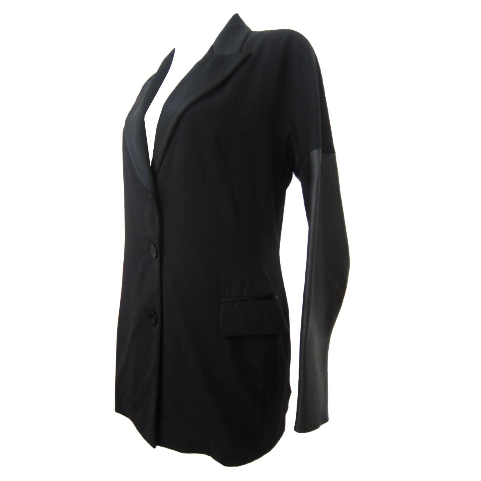 Jean Paul Gaultier FEMME Blazer Jacket Leather Sleeves 90s