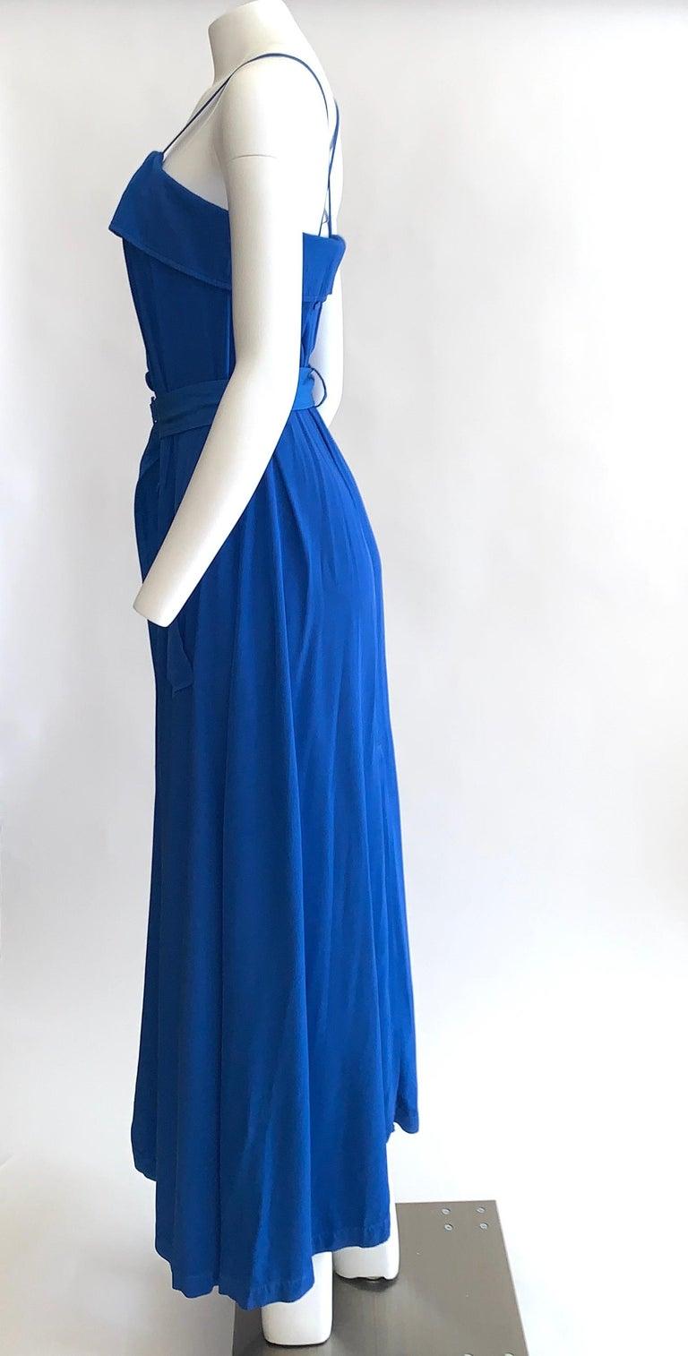 Purple New Jean Paul Gaultier Femme Blue Trench Coat Maxi Dress For Sale