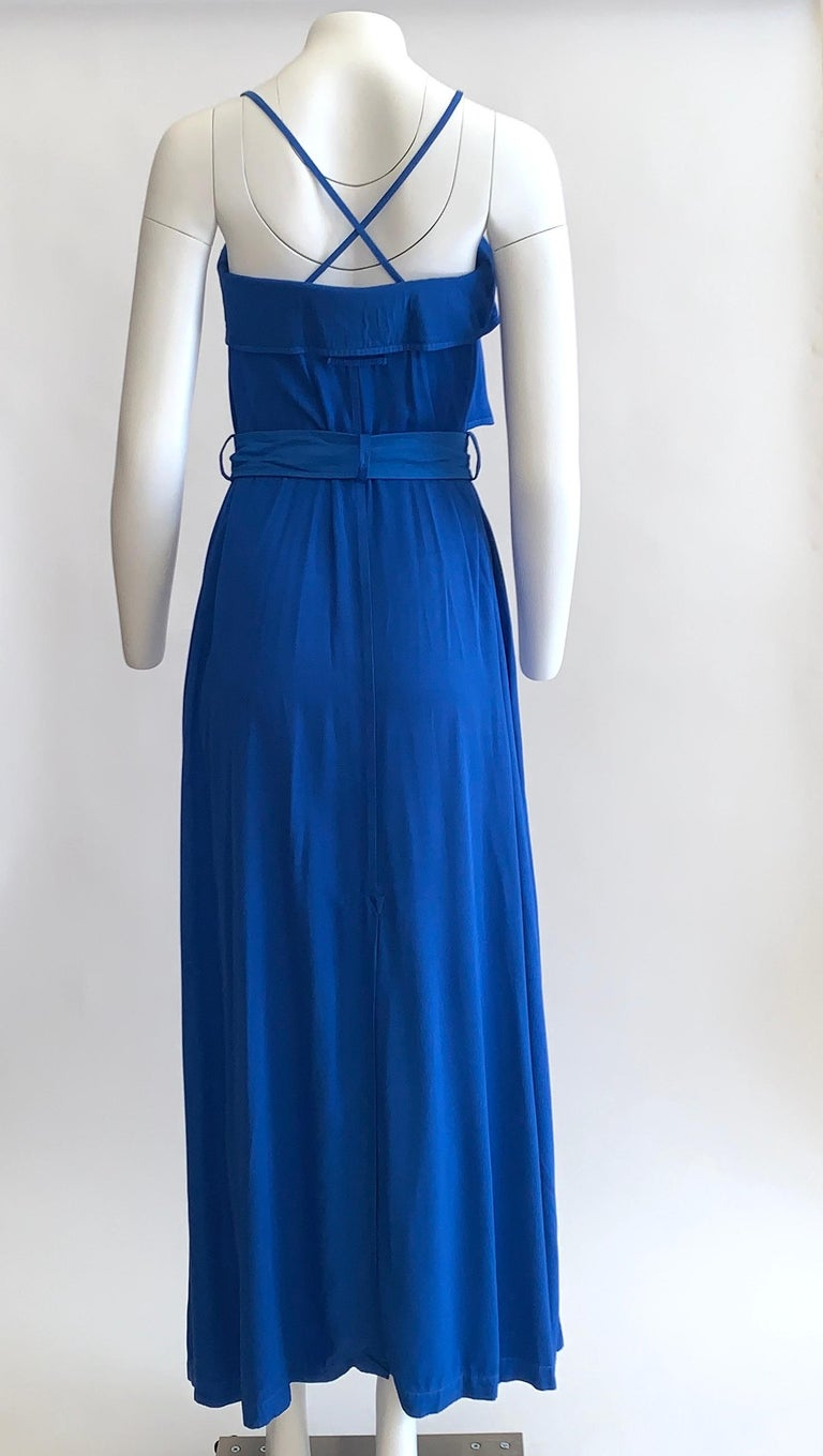 New Jean Paul Gaultier Femme Blue Trench Coat Maxi Dress In New Condition For Sale In San Francisco, CA