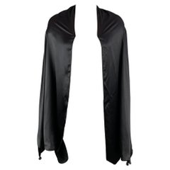 JEAN PAUL GAULTIER FEMME Size One Size Black Satin Oversized Sleeves