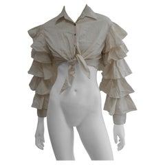 Jean Paul Gaultier Flamenco Style Cropped Shirt