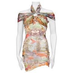 Jean Paul Gaultier Flamingo Print dress