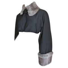 Jean Paul Gaultier Fur Trim Crop Jacket