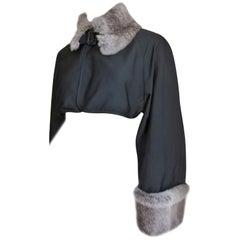Jean Paul Gaultier Fur Trim Crop Jacket