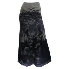 Jean Paul Gaultier Gargoyle Print Skirt 2001