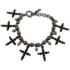 Jean Paul Gaultier Gothic Cross Charm Bracelet