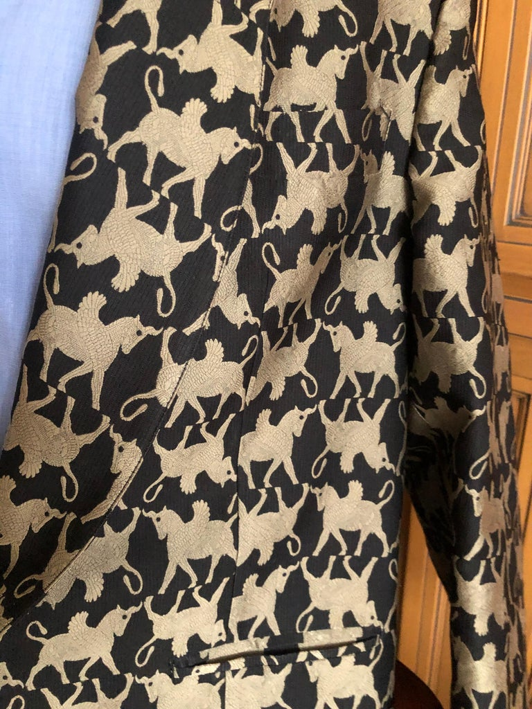 Men's Jean Paul Gaultier Homme Pour Gibo 1980's Griffin Brocade Jacket  For Sale
