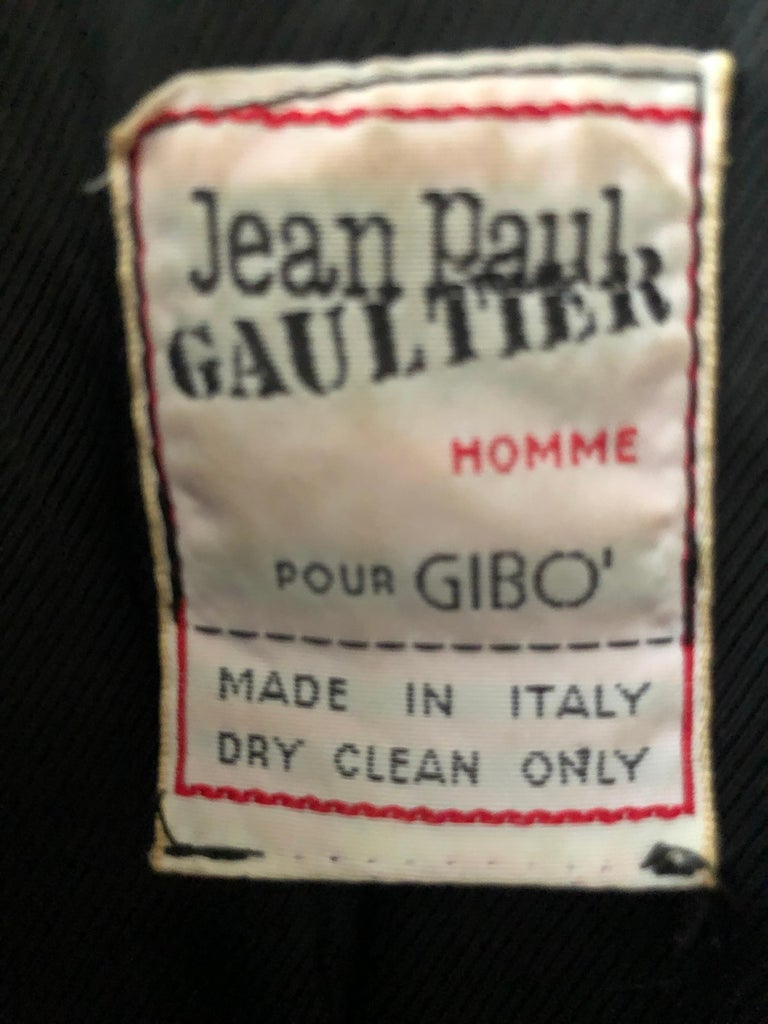 Jean Paul Gaultier Homme Pour Gibo 1980's Griffin Brocade Jacket  For Sale 3