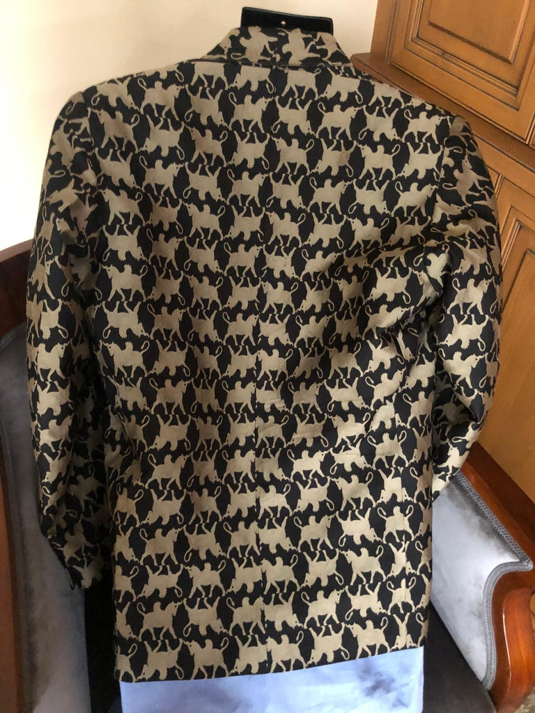 Jean Paul Gaultier Homme Pour Gibo 1980's Griffin Brocade Jacket  For Sale 4