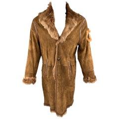 JEAN PAUL GAULTIER JEANS Size 40 Brown Fur & Suede Bull Patch Coat