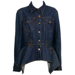 Jean Paul Gaultier Junior Vintage Blue Denim Peplum Jacket