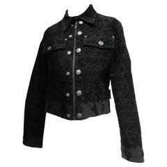 Jean Paul Gaultier Lace Appliqué Printed Jacket