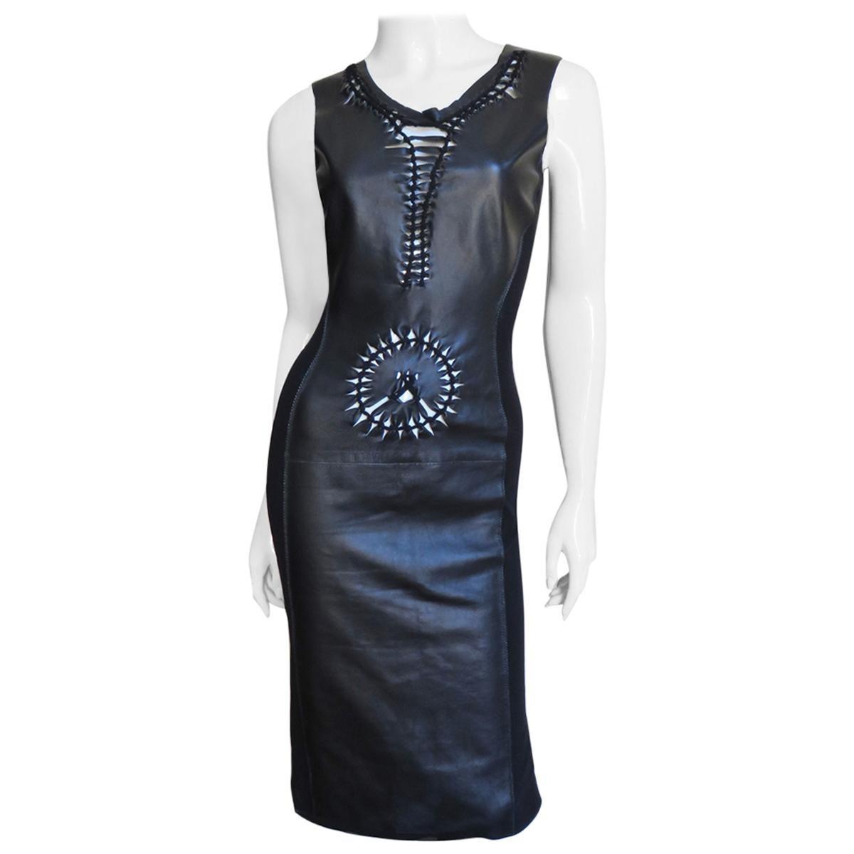 Jean Paul Gaultier Leather Bodycon Dress