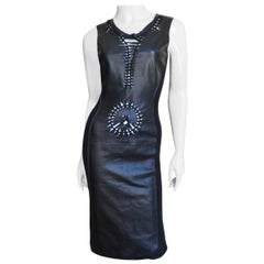 Jean Paul Gaultier Leather Bodycon Dress
