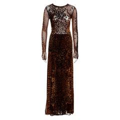 Jean Paul Gaultier leopard print mesh skirt, top and vest 3 piece set, fw 2004