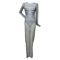 Jean Paul Gaultier Les Marins Sheer Tattoo Print Dress NEW With Tags SZ M