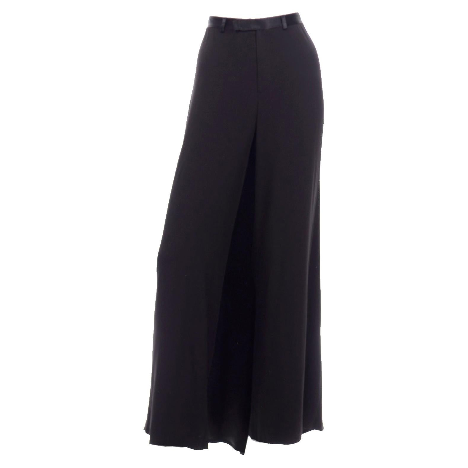 Jean Paul Gaultier Long Black Evening Skirt Overlay w Train & Trousers New w Tag
